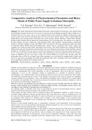 comparative analysis essay sample comparative analysis of physicochemical parameters and heavy metals o