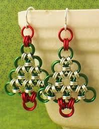 beginner earrings chainmaille tutorial christmas tree earrings simple enough for
