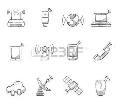 christmas icons hand drawn sketches royalty free cliparts vectors