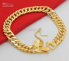 silver gold plated bracelet images Wholesale jewelry 925 silver gold plated 24k man bracelet 8inch jpg