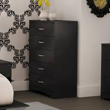 5 Drawer Vertical File Cabinet by South Shore Step One 5 Drawer Pure Black Chest 3107035 The Home