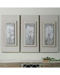 Uttermost Artwork Amazing Deal On Uttermost Triptych Trees Wall Art Set Of 3 White
