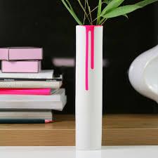 block neon drip vase pink fluorescent designer vase