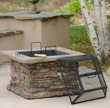 Fire Pit Outdoor Furniture by Patio Furniture Premium Natural Stone Square Fire Pit Patio Fire