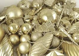 125 piece club pack of shatterproof champagne gold christmas