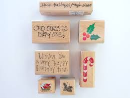 assorted christmas rubber stamps scrapbooking stamps holiday