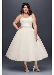 teacup wedding dresses tea length knee length wedding dresses david s bridal