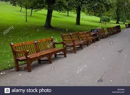 park benches in princess street gardens edinburgh west loathian