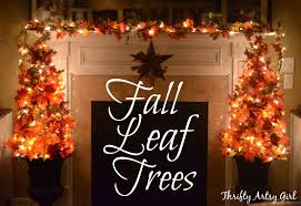 Thrifty Artsy Girl Easy DIY Fall Leaves Potted Topiary Tree from