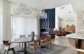 esszimmer im wohnzimmer mit vintage deko und möbeln modern einrichten 50 ideen