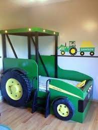 Hand Painted Palletreclaimed Wood John Deere Tractor Sign - John deere kids room