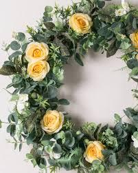 diana rose diana rose flower wreath garland swag balsam hill