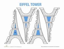 eiffel tower model worksheet education com
