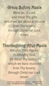 meal prayers card meals catholic prayers and meal prayer