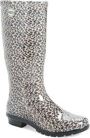 womens duck boots target chemistry womens w503 leopard print rubber weather proof