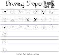 kindergarten dash trace handwriting worksheet printable