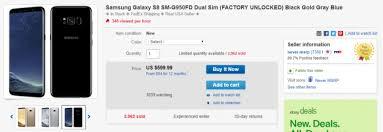 deal alert dual sim galaxy s8 g950fd and s8 g955fd on sale