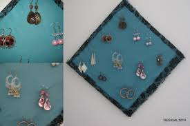 Home Decor Using Recycled Materials Diy Earring Holder And Organization Using Waste Material