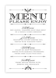 wedding menu templates free printable wedding menu templates
