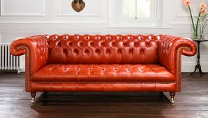 chesterfield sofa leather 2 seater red sandringham
