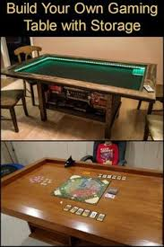 play table board game console make your own gaming table with built in game storage play areas