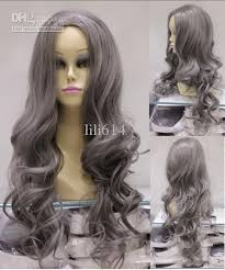 gray hair pieces for american charming long curly grey synthetic hair wig long curly wigs asian
