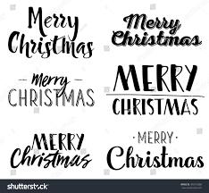 merry six unique lettering design stock vector 492412666