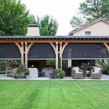 Backyard Patio Cover Ideas Covered Patio With Sliding Mosquito Screens House Ideas