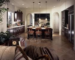 eat kitchen design ideas home luxury dark brown kitchen with white counter tops the center