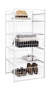 Wire Storage Unit Wire Basket Drawer Unit 5 Tier From Storage Box