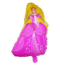 coming barbie princes carton giant printed foil balloon