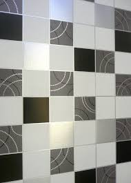 debona dotty wallpaper kitchen bathroom black silver tile effect