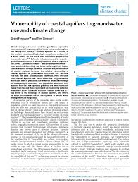 vulnerability of coastal aquifers to groundwater use and climate