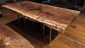 slab dining room table rustic table live edge table wood table littlebranch farm
