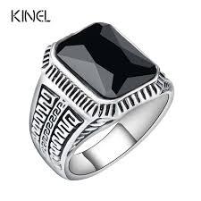 aliexpress buy mens rings black precious stones real aliexpress buy vintage men rings big black precious stones