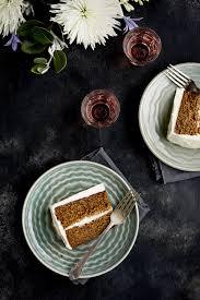 marzipan almond cake with a orange blossom mascarpone frosting