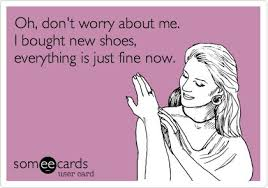 Buy All The Shoes Meme - retail therapy the basics bedoor bluemoon