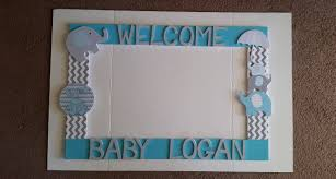 baby shower frames birthday baby shower wedding boy blue grey or any colors