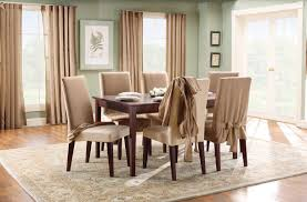 Dining Room Floor Sure Fit Cotton Duck Full Length Dining Room Chair Slipcover