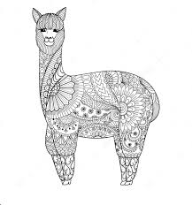 llama zentangle coloring page zentangle coloring pages