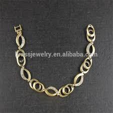 simple chain bracelet images Latest vogue jewelry simple design zircon diamond paved raw brass jpg