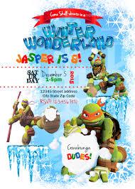 wonderland invitation teenage mutant ninja turtles party tmnt