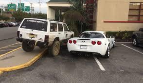 jeep couple meme if you park your corvette like a douchebag you deserve to be