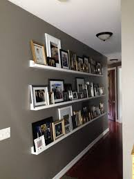Ribba Picture Ledge Gallery Wall For A Long Hallway Photo Ledge Long Hallway And