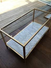 faux marble coffee table diy gold and faux marble coffee table ikea hack ديكور pinterest