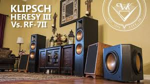 rf 42 ii home theater system klipsch heresy iii vs klipsch rf 7ii speaker review youtube