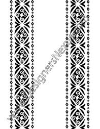 vector ornament border with tribal design elements v7