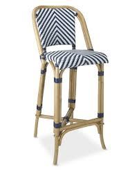 Single Bistro Chair Parisian Bistro Woven Bar Stool Williams Sonoma