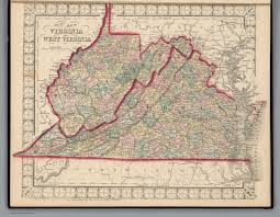 County Map West Virginia by County Map Of Virginia And West Virginia David Rumsey