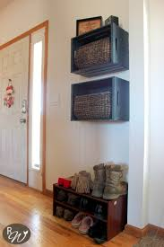 diy mudroom storage crates how to decorate a crate home diy